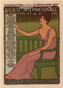 Vintage French poster - 15th exhibition, International Society of Painting and Sculpture (1897)